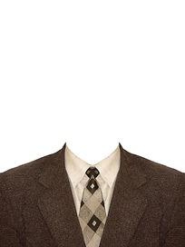格格领带证件照模板