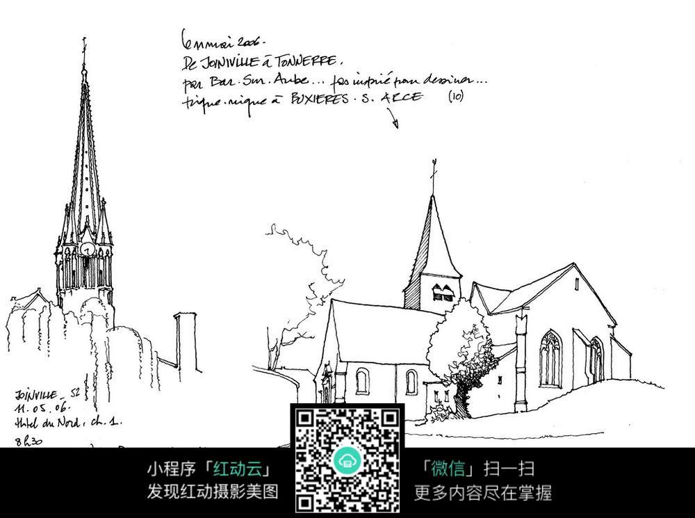 街区建筑手稿