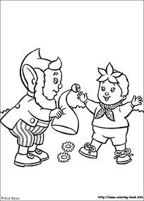 卡通老爷爷小兔子黑白简笔画图片素材图片
