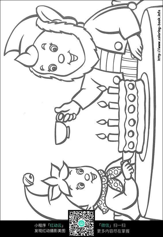 小孩人头卡通简笔画