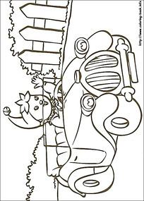 卡通洗汽车的小孩黑白简笔画图片素材图片