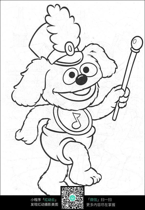卡通小动物线描图片免费下载 红动网