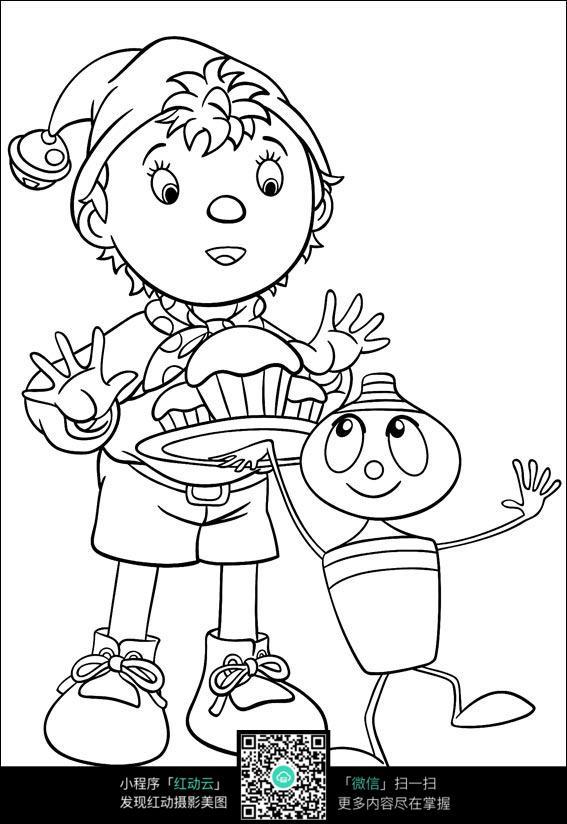 小蜜蜂儿童涂鸦简笔画