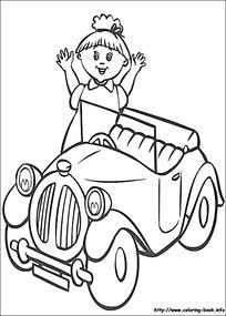 卡通小孩小老鼠黑白简笔画图片素材图片