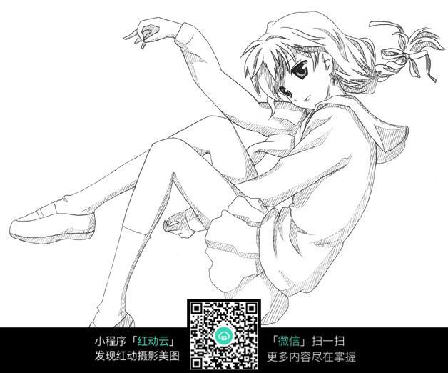 简单漫画人物图片女孩