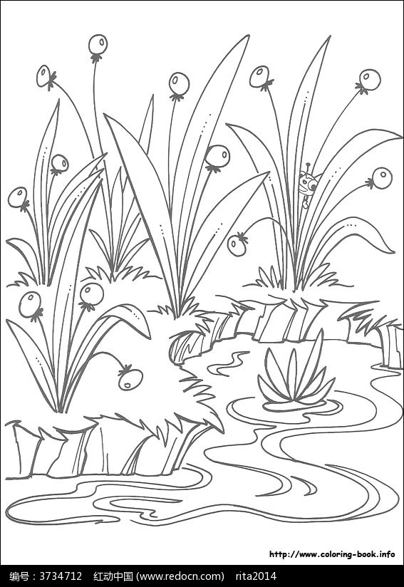 卡通动物 手绘线稿 线稿图片