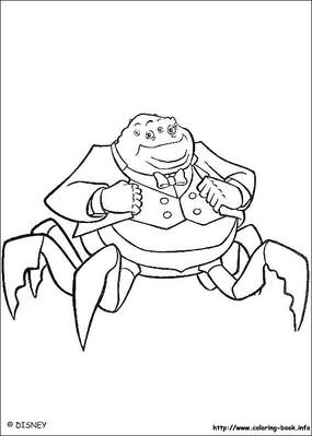 卡通螃蟹大叔手绘线稿图
