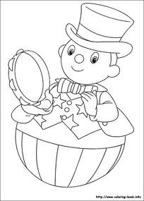 卡通照镜子的小男孩手绘线稿