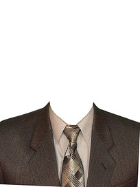 男士领带西服证件照模板