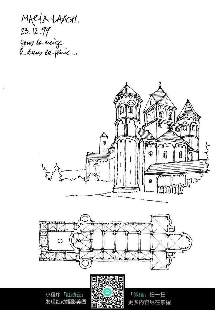 手绘建筑 手绘城市 都市图片