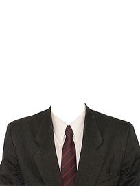 条纹领带证件照模板