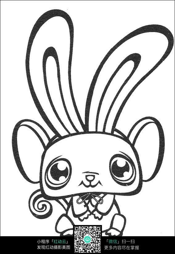 兔子卡通手绘线稿