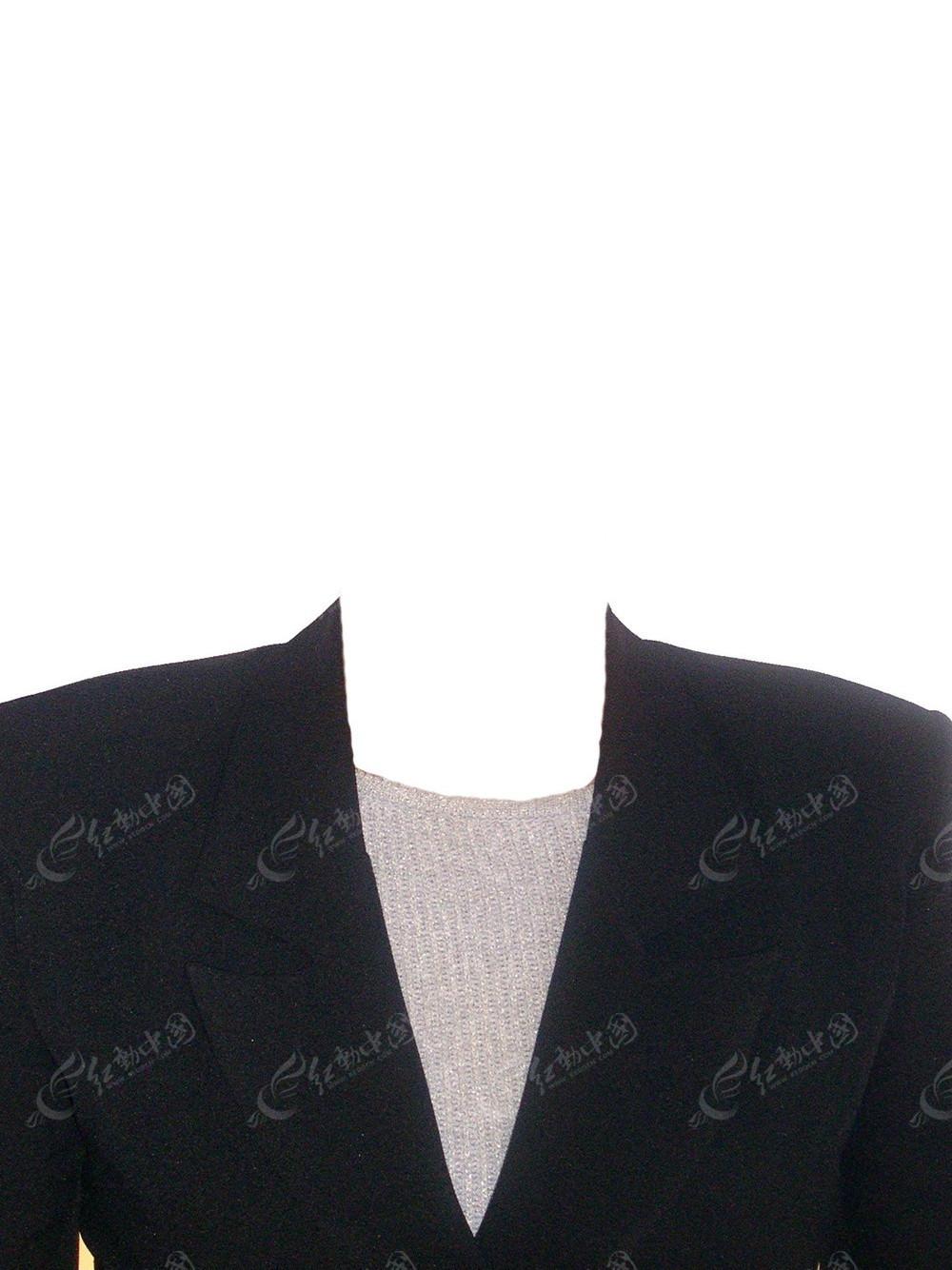 西装女士证件照图片