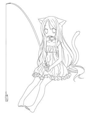 手绘线稿 下载收藏 卡通创意钓鱼寓言插画 下载收藏 钓鱼的猫客厅侧面