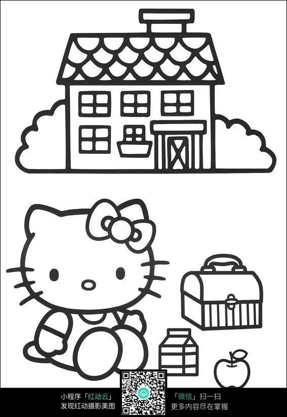 小猫的房子怎么画简笔画