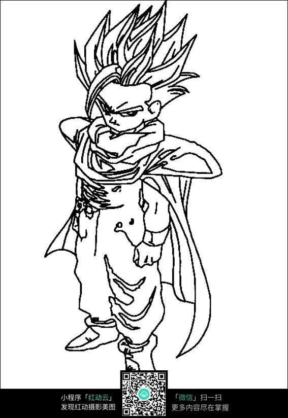 愤怒的孙悟空_人物卡通图片