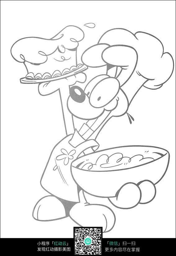卡通 动物 手绘线稿 卡通人物 手绘 线稿 漫画  卡通素材  插画 人物