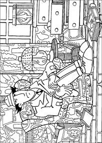 卡通凌乱的房间手绘线描图片图片