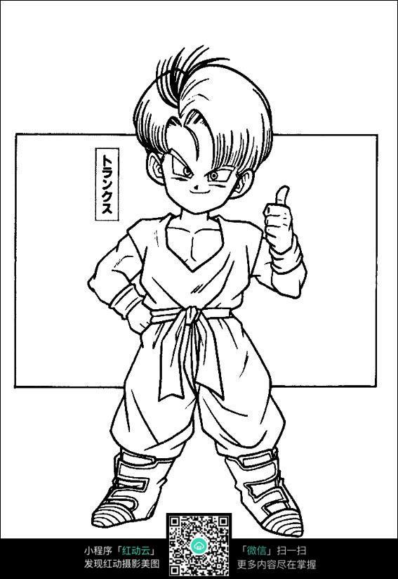 卡通龙珠孙悟空
