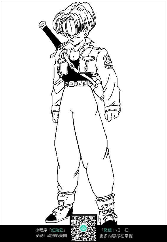 七龙珠悟空黑白手绘图