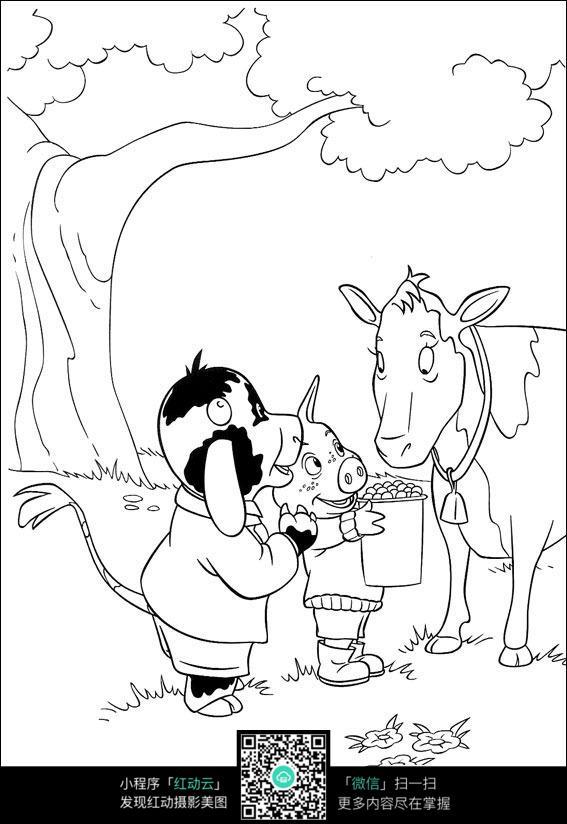 小猪卡通图片简笔画