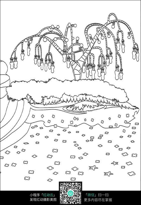 免费素材 图片素材 漫画插画 人物卡通 森林里的果实