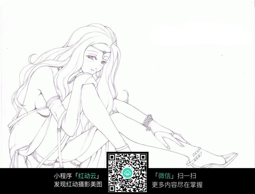 手绘漫画人物_手绘漫画人物女生