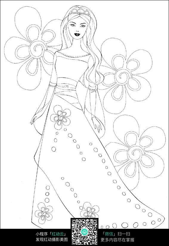 美女穿真丝长裙图片