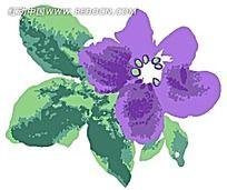 大朵紫色家居装饰花朵psd素材