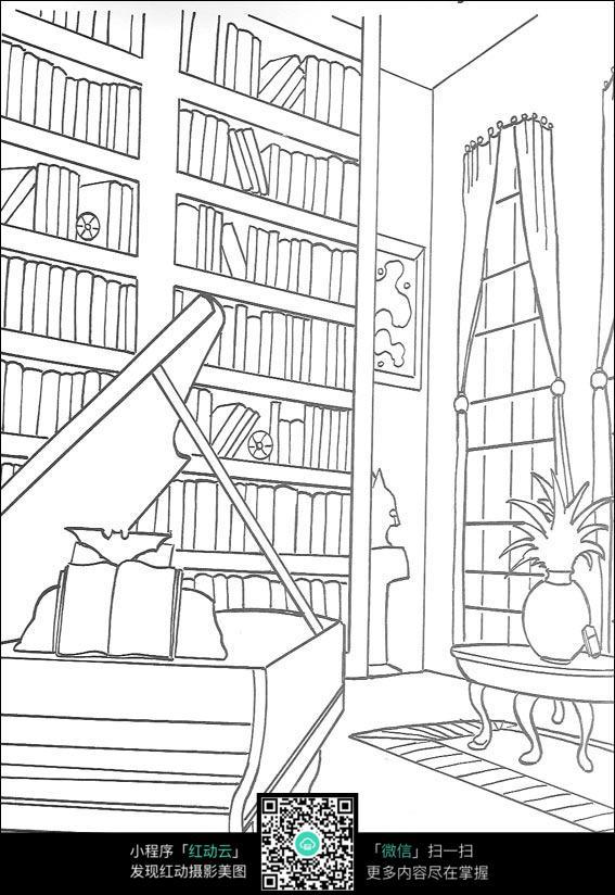 手绘钢琴立面图