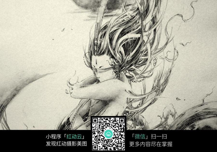 画龙-风入松 婉若游龙素描画图片免费下载 编号3726698 红动网图片