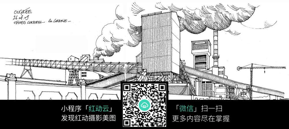 工厂手绘线描图