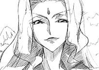 古代女人头像线描