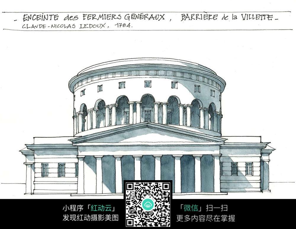 古欧式建筑设计图