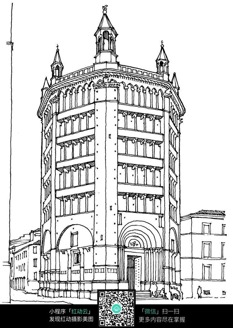 建筑插画 风景插画 建筑速写 手绘建筑 手绘风景 建筑设计手绘稿 外国