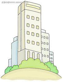金融手绘素材(大楼)