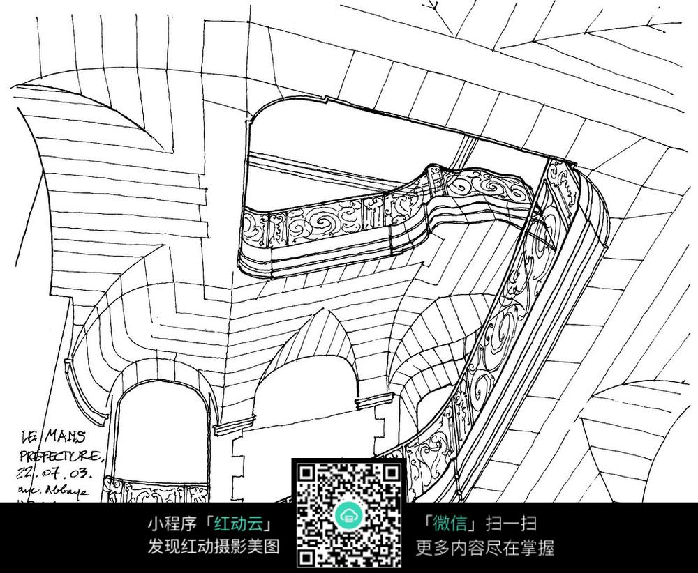 卡通城市建筑手绘图片