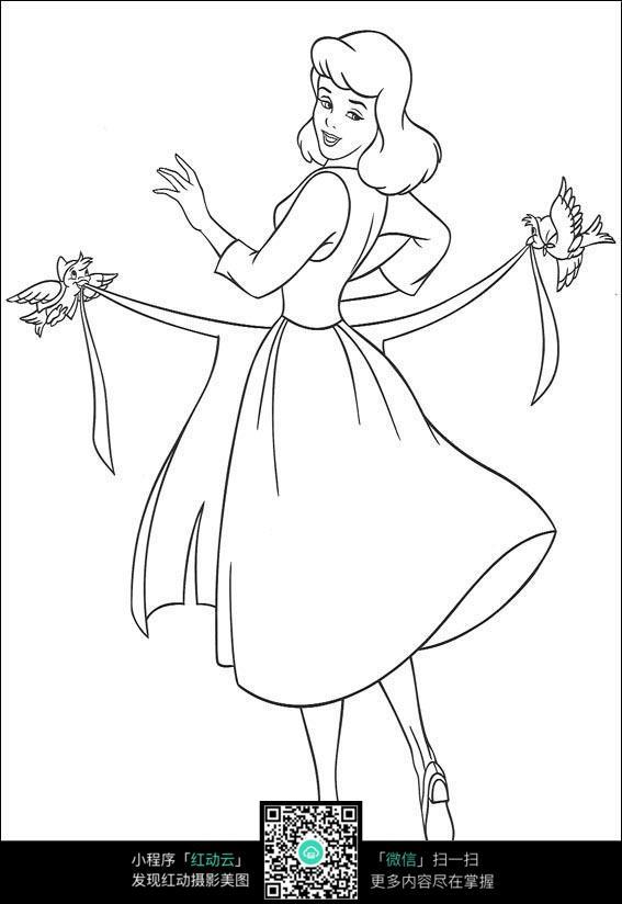 动漫简笔画裙子