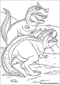 卡通恐怖的恐龙