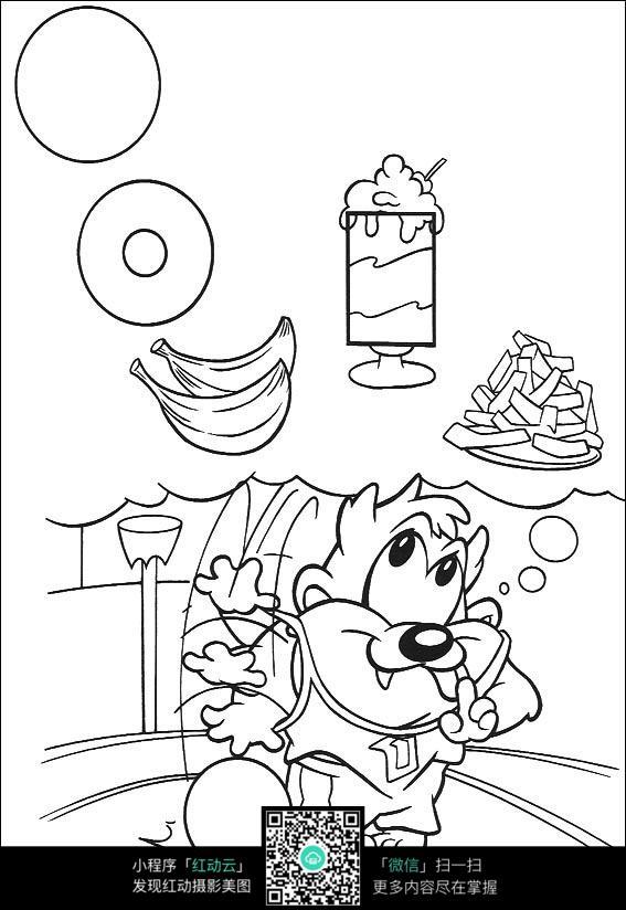 美食漫画 手绘简笔