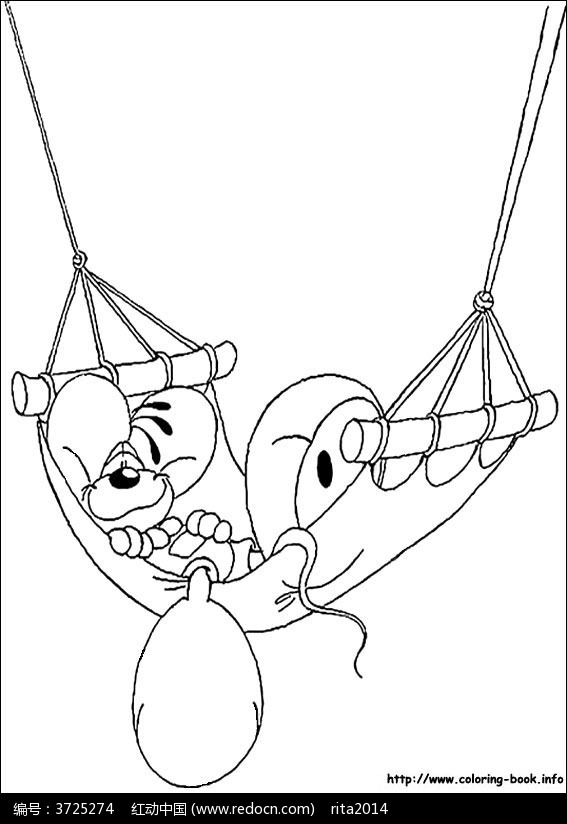 卡通米老鼠刷房子_人物卡通图片_红动手机版
