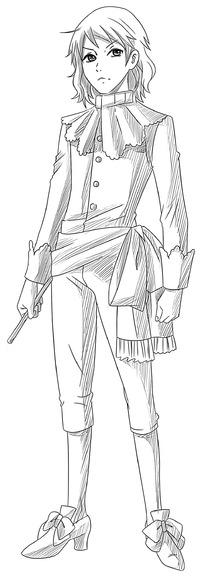 拿武器的少年卡通手绘线稿图片_人物卡通图片
