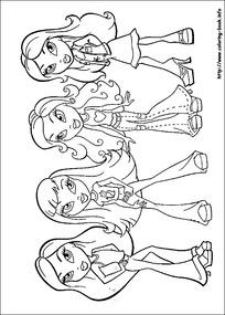 卡通女孩各种服装