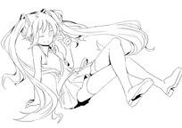 卡通女孩坐在地上伤心