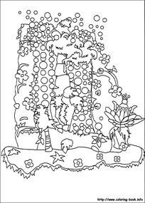 卡通森林里的泡泡图片