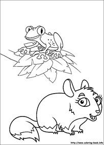 卡通小老鼠和青蛙动物