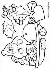摘水果的人卡通手绘线稿