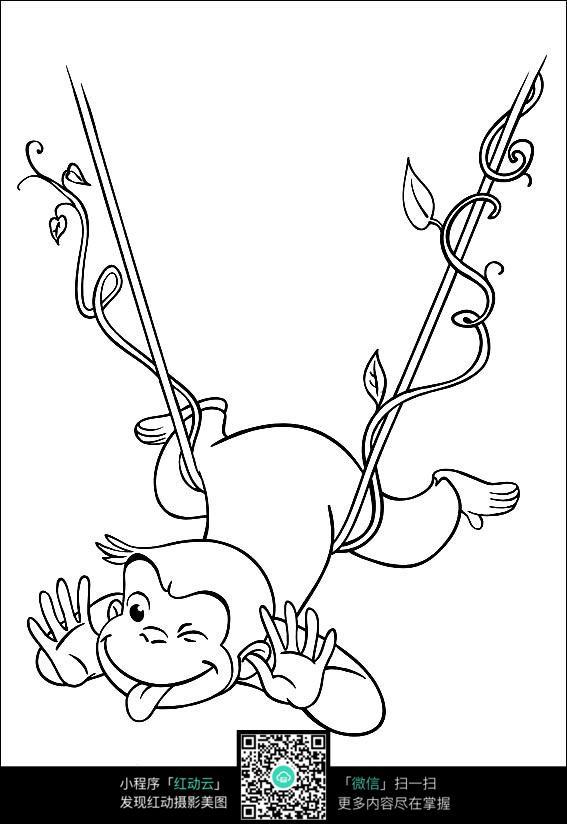 卡通做鬼脸的猴子图片