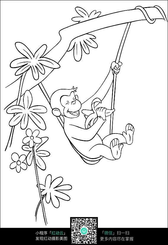可爱的猴子荡秋千图片免费下载 编号3724764 红动网