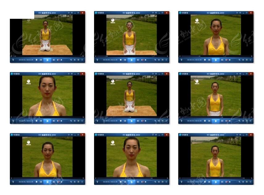 美女瑜伽教程视频素材